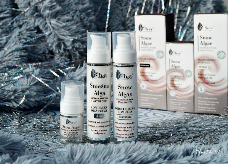 Laboratorium Kosmetyczne AVA Śnieżna Alga - kosmetyki naprawiające efekty starzenia skóry recenzja