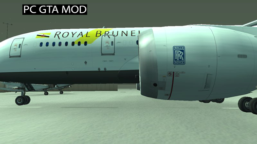 Free Download Royal Brunei Airlines Boeing 787-8 Mod for GTA San Andreas.