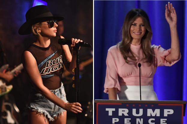 Lady Gaga arremete contra Melania Trump