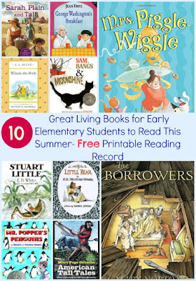 Elementary summer reading list