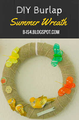 DIY Burlap Summer Wreath