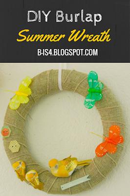DIY Burlap Summer Wreath