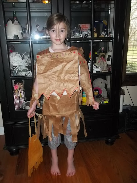 Native American Paper Craft Wampanoag Indians Paper Dress