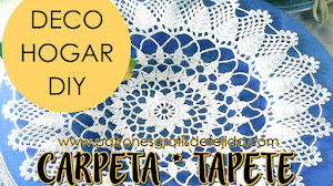 Patrones de Carpeta ~ Tapete Crochet / Paso a paso