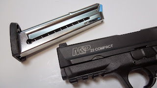 Smith & Wesson S&W M&P pistol 22LR magazine high-cap high capacity modification banned follower spring tube compact