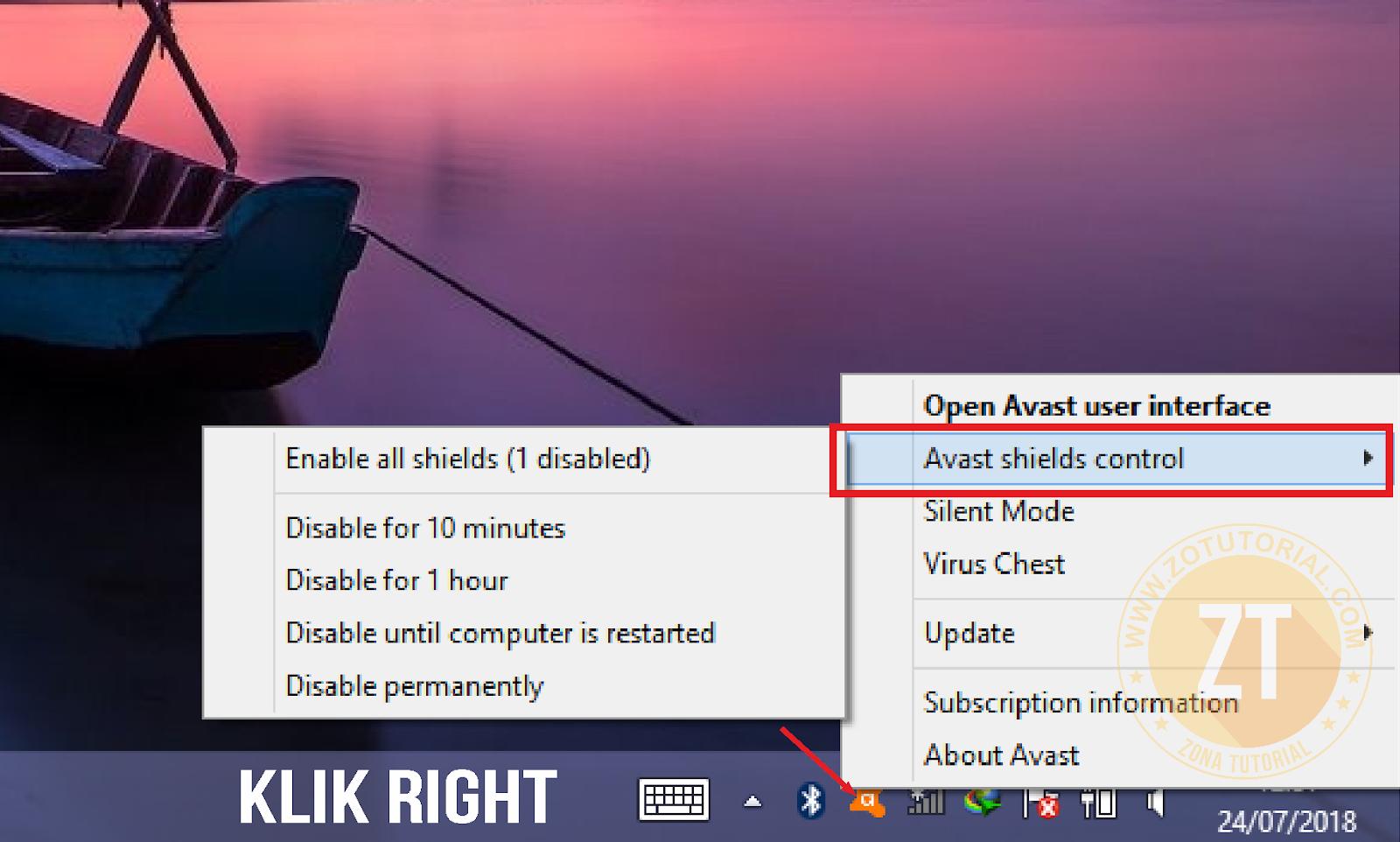 Cara Menonaktifkan atau Disable Antivirus (AVAST ...