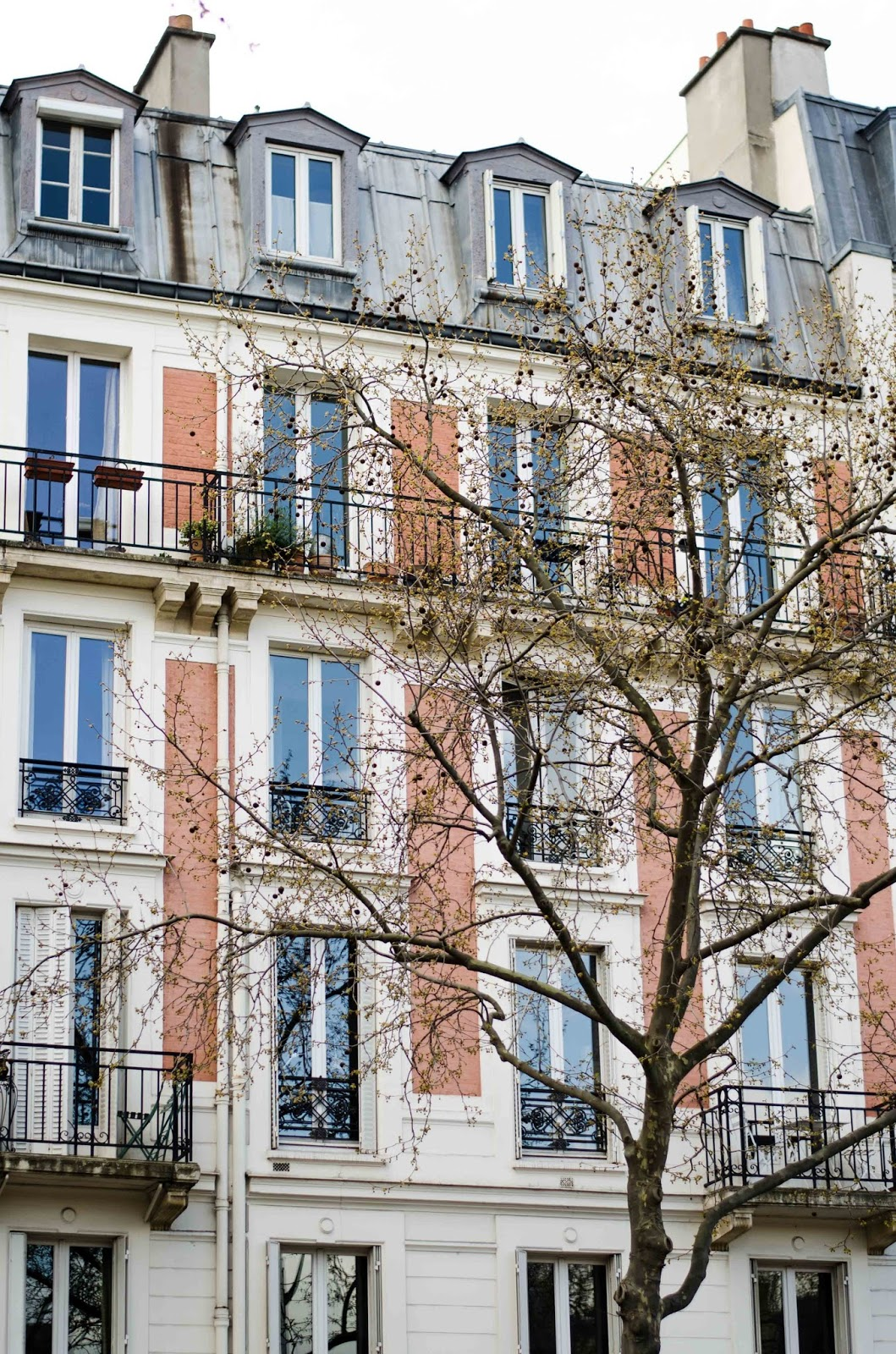 paris house with balconies