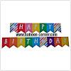 Bunting Flag Segilima HAPPY BIRTHDAY Warna Rainbow