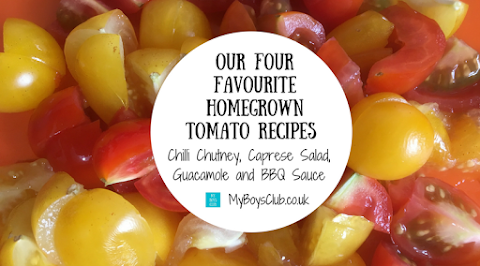 Our Four Favourite Homegrown Tomato Recipes including Chilli Chutney, Caprese Salad, Guacamole and BBQ Sauce