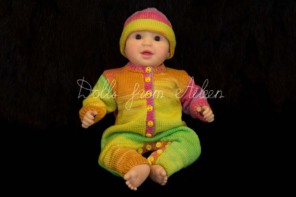 ooak posable baby doll sitting