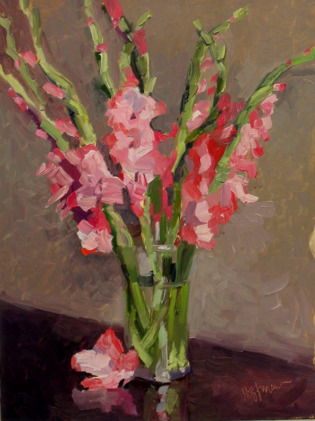 "Mary's Paintings: ""Pink Gladiolus"" CHARITABLE DONATION"