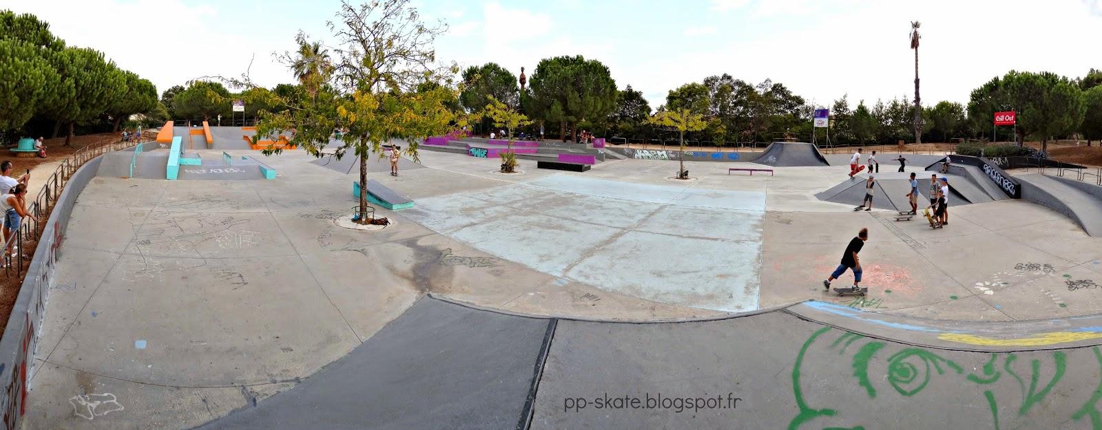 Skatepark Hyères panoramique