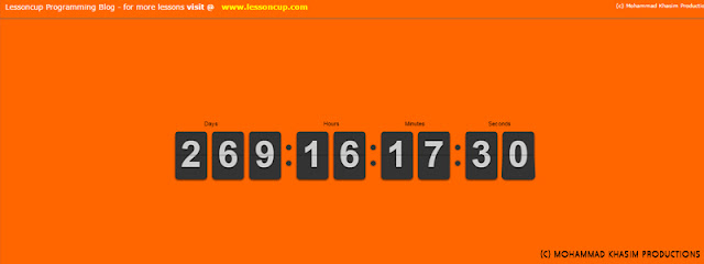 JQuery Countdown Timer | Lessoncup Programming Blog