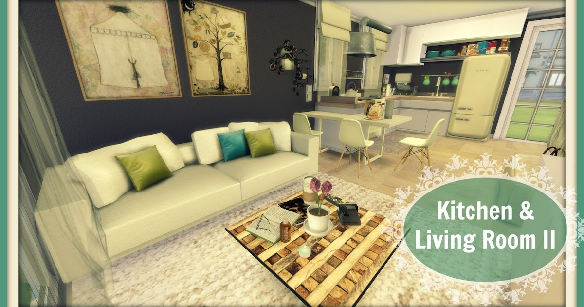 Sims 4 kitchen living room ii dinha for Living room west 6 brooklyn