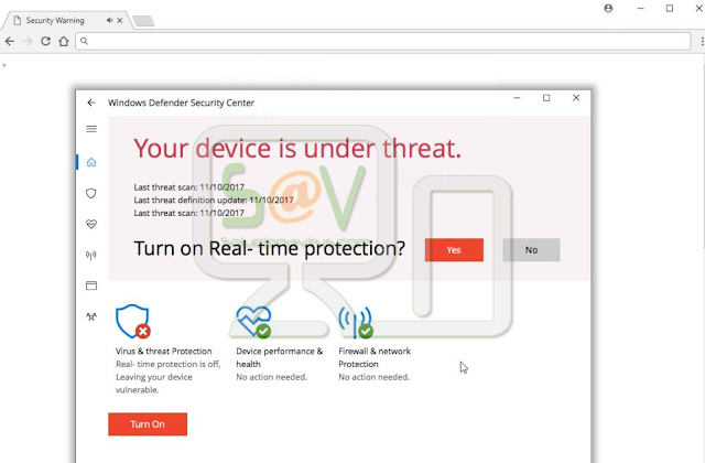 """Your device is under threat"" (Falsas alertas de Microsoft)"