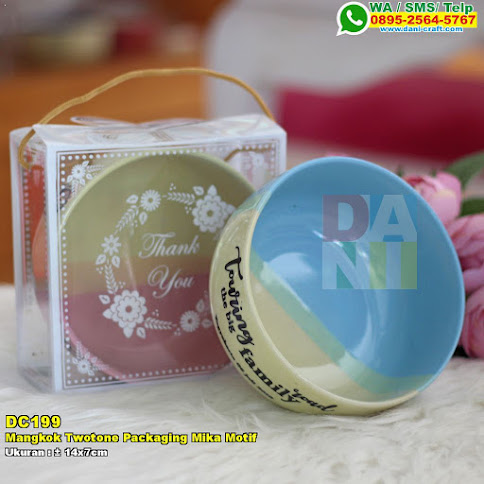 Mangkok Twotone Packaging Mika Motif