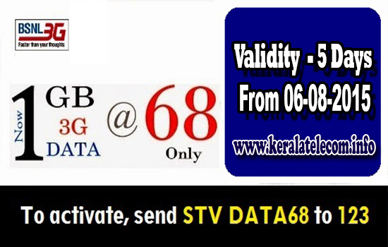 Exclusive: BSNL to reduce validity of Data STV 68 to 5 Days from 6th August 2015 onwards across India