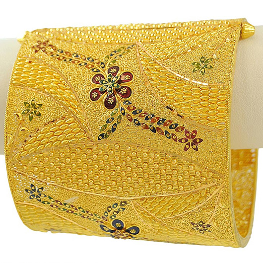 Traditional Glass Gold Chur Bengali Design