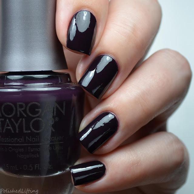 deep purple creme nail polish swatch