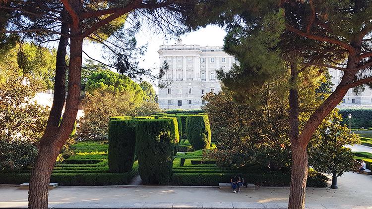 Jardines de Sabatini à Madrid