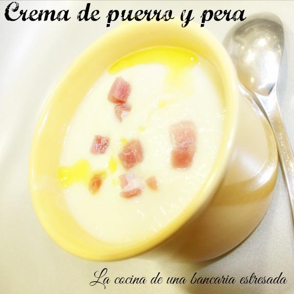 Crema de puerro y pera receta paso a paso y con fotografías