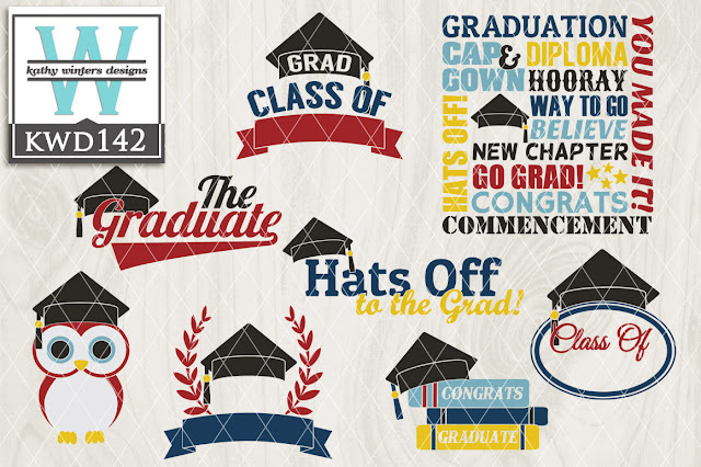 Commercial Use graduation graphic set silhouette cameo silhouette studio