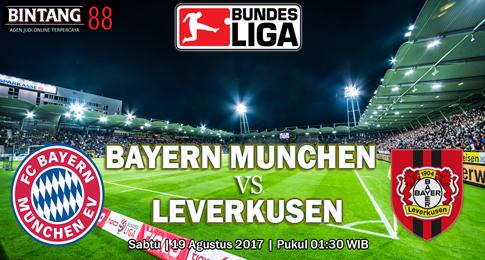 PREDIKSI SKOR Bayern Munchen vs Leverkusen 19 AGUSTUS 2017
