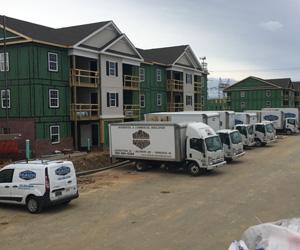 Delmarva Insulation at Construction Site