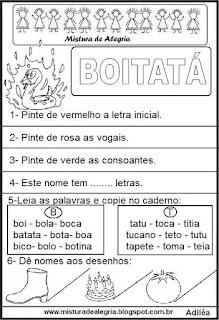 Atividades sobre folclore, Boitatá