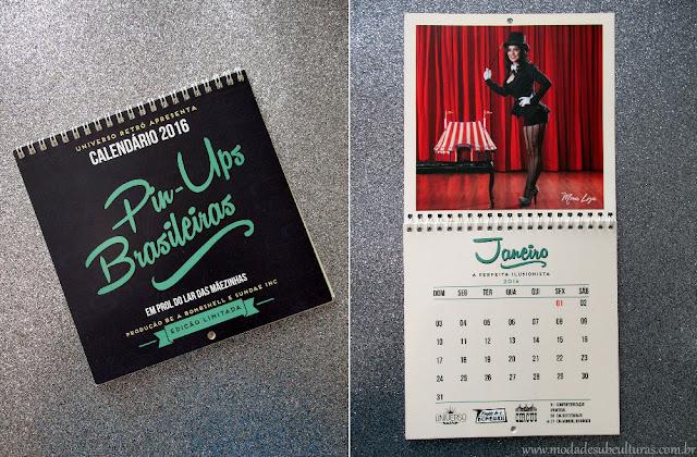 calendário pin-up brasileiras 2016