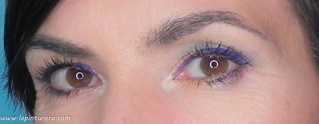 look maquillaje colorido ojos