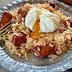 Salteado de arroz con chistorra y huevo poché