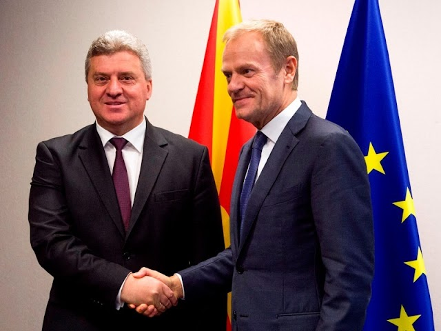 Ivanov asks Tusk to send a positive message for unblocking the integration of Macedonia