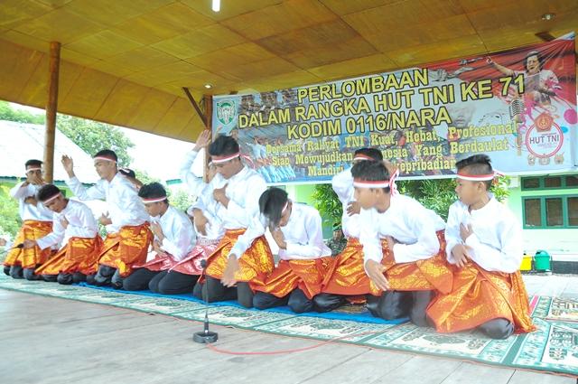Lomba Tarian Saman Meriahkan HUT TNI ke-71 di Aceh