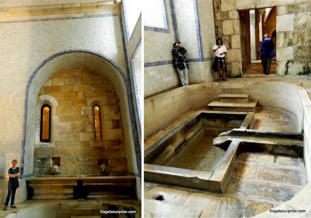 Tanque de água que abastece a Cozinha Nova do Mosteiro de Alcobaça