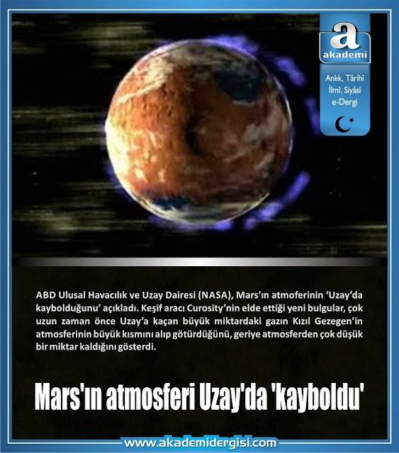 Mars'ın atmosferi Uzay'da 'kayboldu'