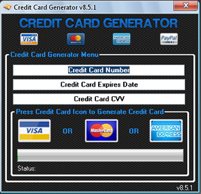 Hacks libre 2013: Credit Card Generator v8 5 1 Free Download