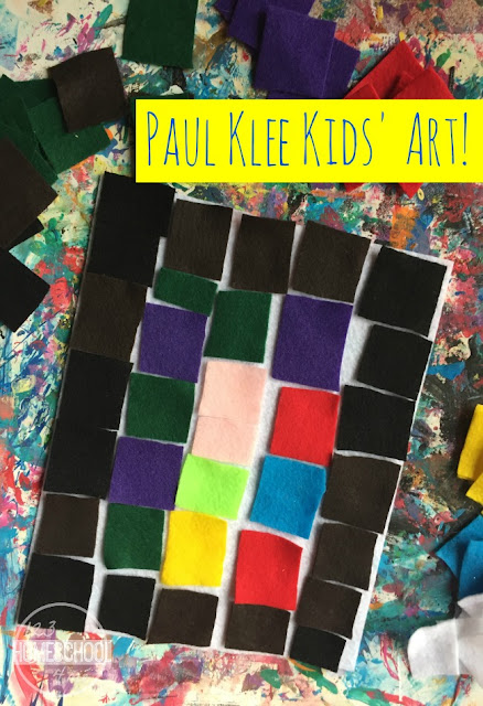 Paul Klee famous artist art project for kids
