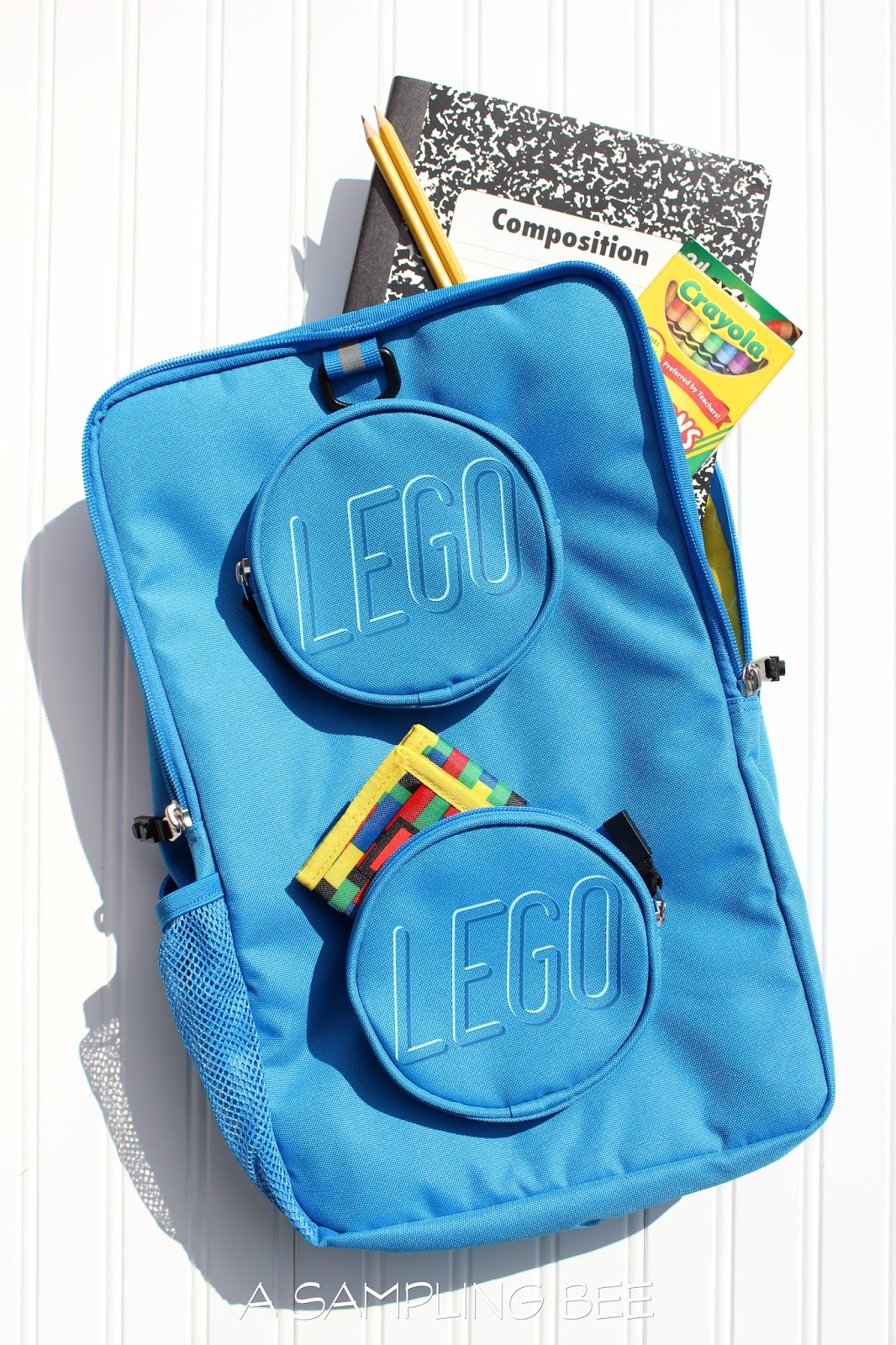 00378d6f73 Lego Brick Eco Backpacks are available in four colors  blue