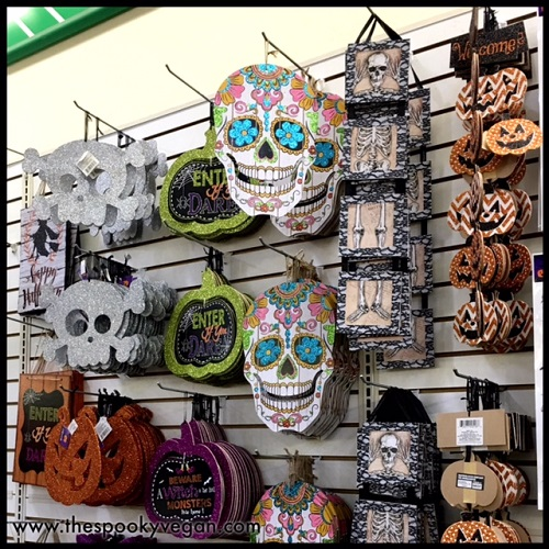 sugar skull wooden signs plus way too much glitter for halloween - Dollar Tree Halloween