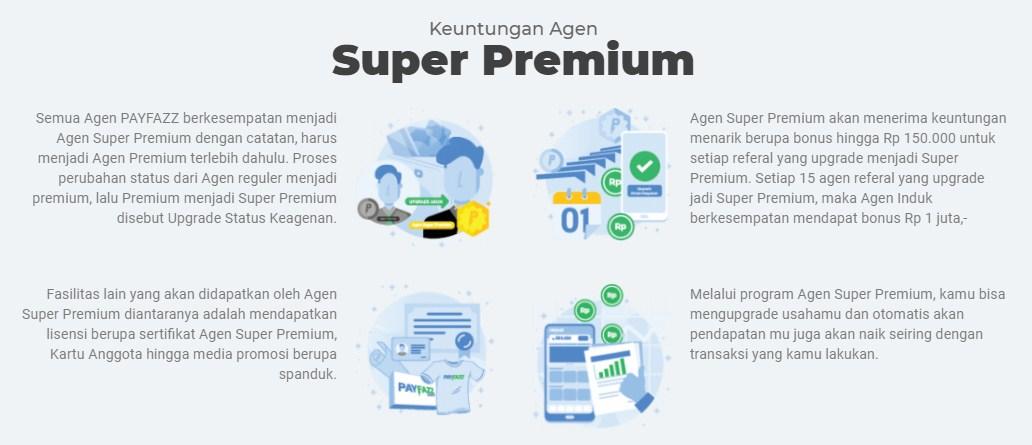 Keuntungan upgrade Premium, Super Premium Payfazz