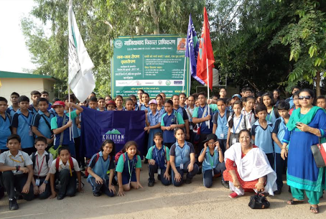 Khaitan Public School takes up plantation drive