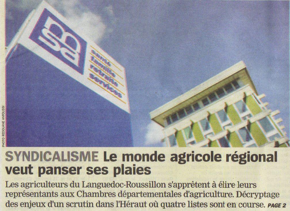 R gion conf d ration paysanne une vraie politique - Chambre agriculture languedoc roussillon ...