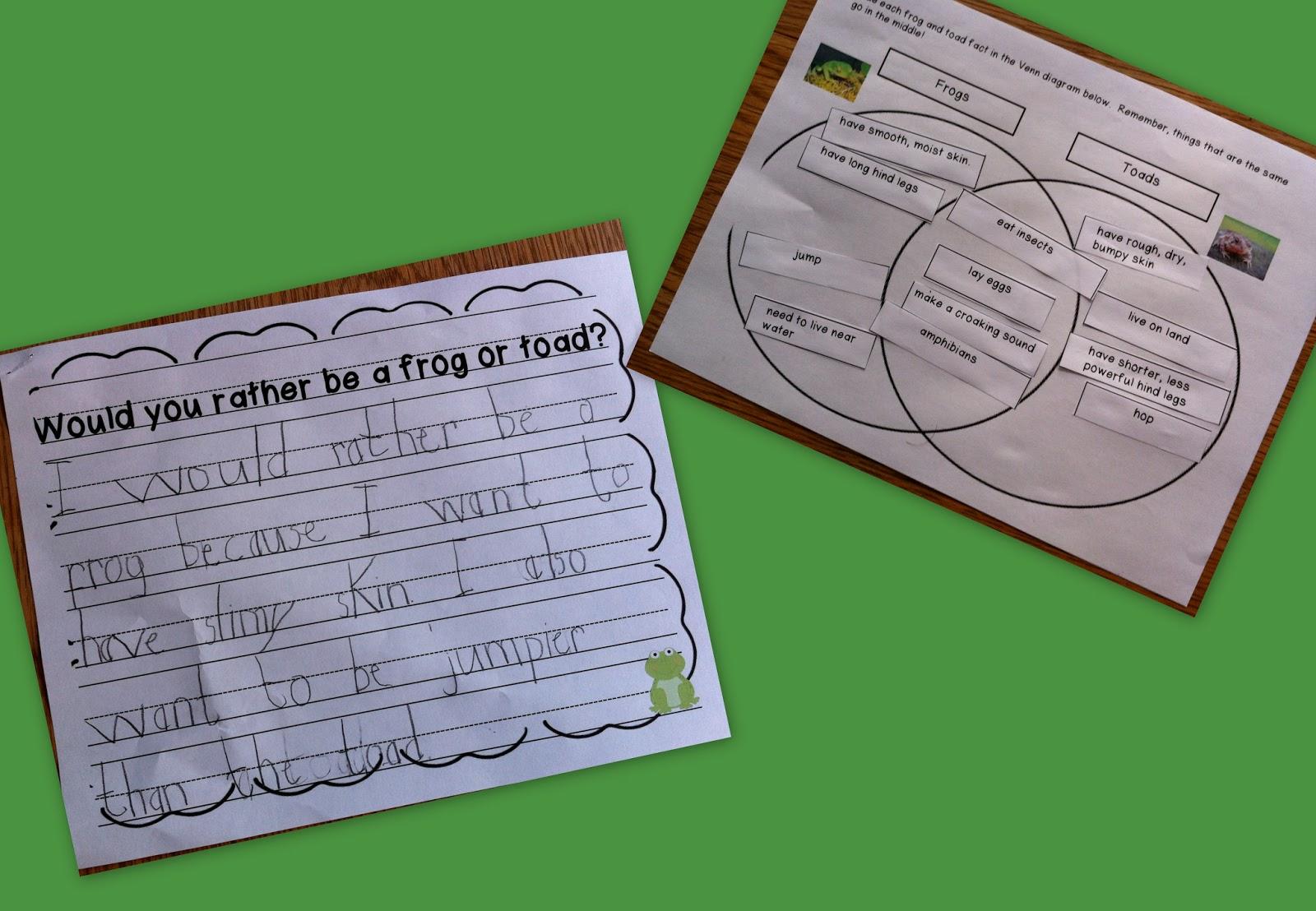 Frog And Toad Venn Diagram