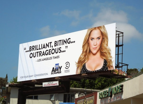 Inside Amy Schumer 2014 Emmy Brilliant, Biting, Outrageous billboard