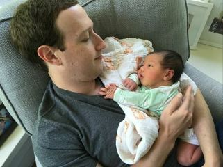 """Baby cuddles are the best"" Mark Zuckerberg says as he shares adorable photo of himself cuddling his newborn baby"