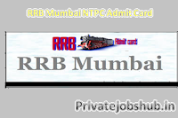 RRB Mumbai Admit Card