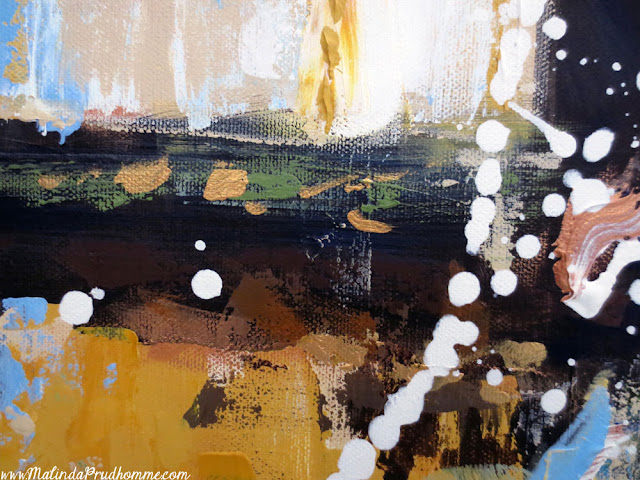 art, artist, artwork, abstract, commission, custom, custom art, custom abstract, malinda prudhomme, toronto art, toronto artist, green, gold, black cross, splash paint