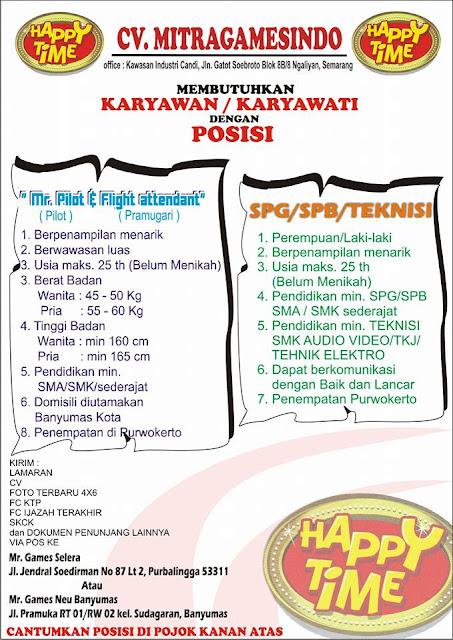Info Lowongan Kerja CV Mitragamesindo | Loker Satria