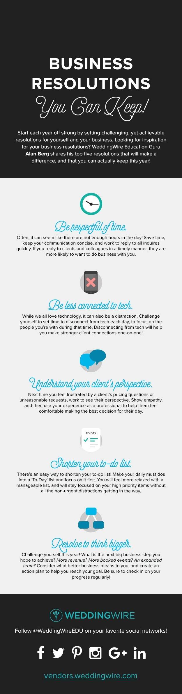 Five Business Resolutions That You Can Keep - #infographic